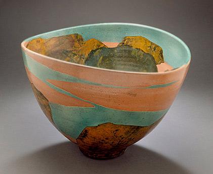 Wayne Higby Raku Bowl