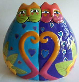 Laurel Burch - Ceramic Cats