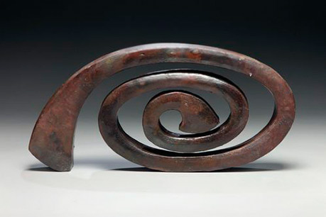 Red Spiral Wood fired stoneware
