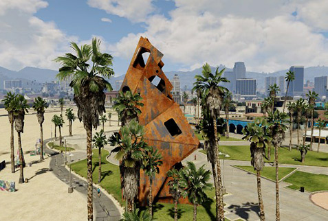 Grand Theft Auto abstract sculpture