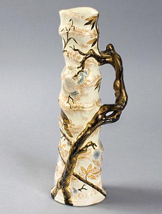 French Art Nouveau ceramic vase by Emile Galle