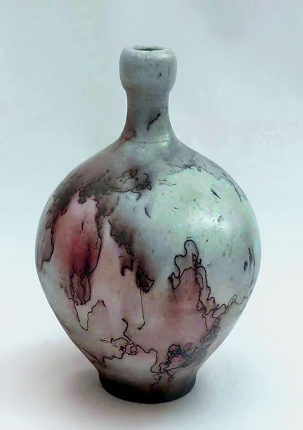 Michael Wein Raku bottle