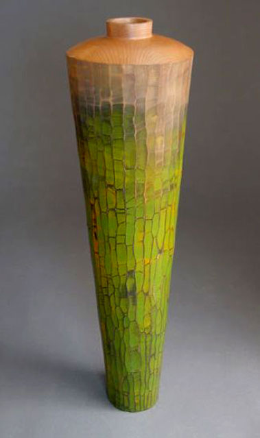Michael Bauermeister---Green Offering -linden with paint and stain