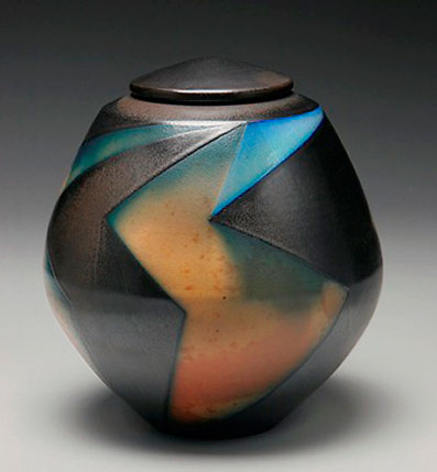 David Crane Raku Jar