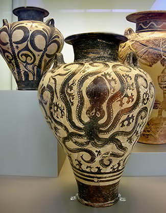 Ancient Octopus pottery - National Archaeological Museum in Athens