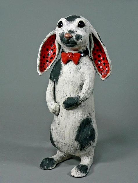 Cathy Meincer ceramic rabbit