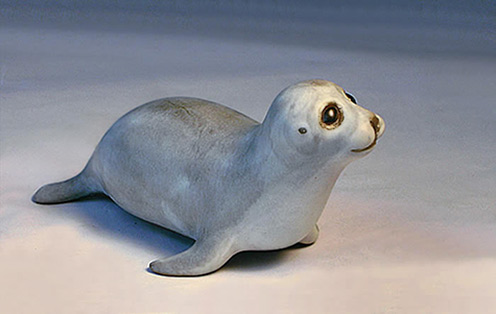 Ceramic Baby Seal Sculpture Anderson Ceramics