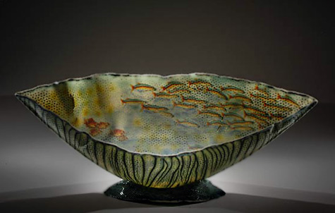 Curtis Benzle Softly as in a Dream ceramic bowl