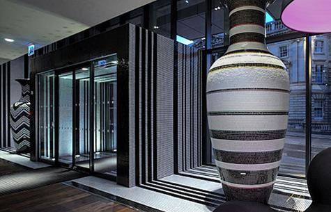Large balluster Pots Hotel Missoni Italy