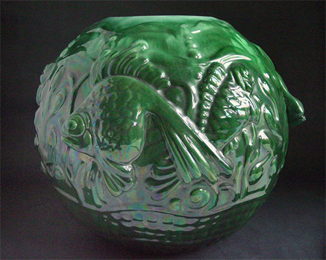 Large Royal Haeger Tropical Fish Bowl late 40-s---Flickr--