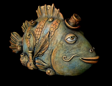 Natalie Ul Yanova Surreal Clay Fish Ceramics And Pottery