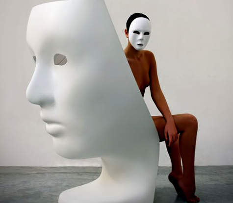 Nemo is a chair with-a face designed by Fabio Novembre