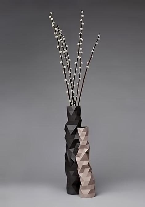 Original-design-vase---ceramic---FACETURE-by-Phil-Cuttance---MoaRoom tall multi faceted vases