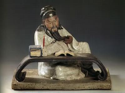 Wen Songling scholar figurine