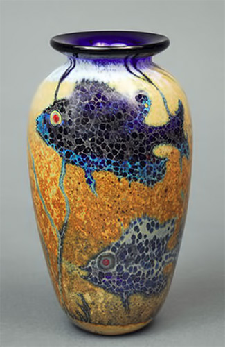 Blue fish vase Paul Bendzunas