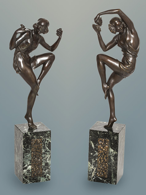French Art Deco Dancers by Pierre Laurel