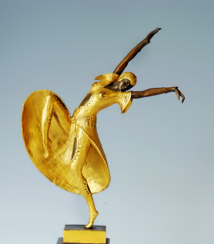 Bronze Dancing Lady Sculpture
