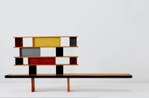 Charlotte Perriand -Tunisie modernist bookcase 1952
