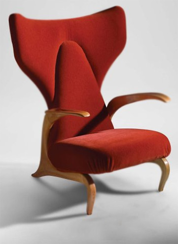 Casa Orengo chair --- Carlo Mollino