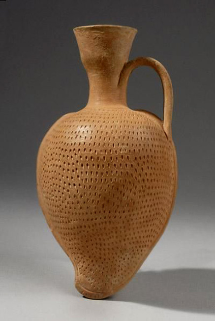 Classical Almond Flask--5th-Century BC Culture Archaic Greek