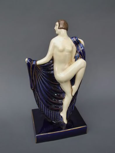 Faience Dancer by D'Argyl -- Sheryls Art Deco