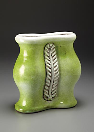 GEORGES-JOUVE-lime green vase1947