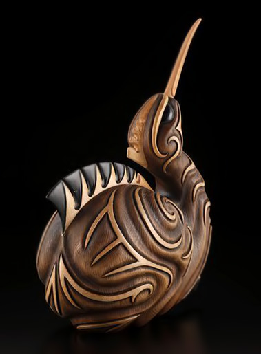 New Zealand sculpture -  Kiwi by Kerry Kapua Thompson, Māori artist