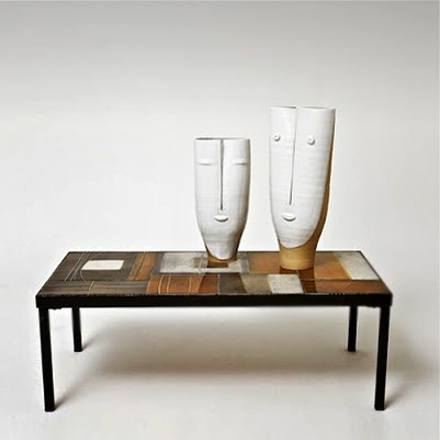Dalo vases and Roger Capron table