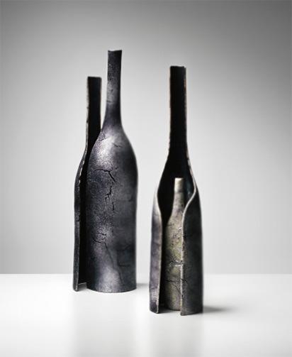 PAOLO DE POLI ceramic bottles 50's