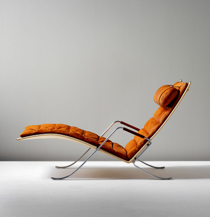 Preben Fabricius and Jorgen KastholmeEarly 'Grasshopper' chaise longue, designed 1968