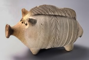 Rattle in the form of a pig,- 2nd-–-1st-century-B.C