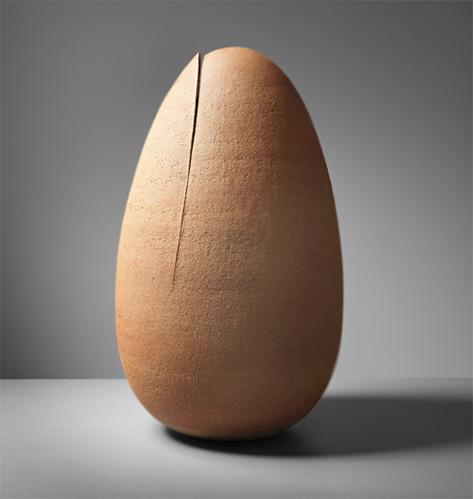 STIG LINDBERG-1950's Egg sculpture