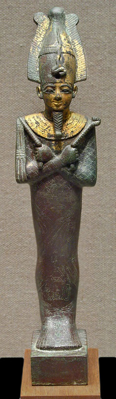 Statuette of Osiris with the name of Padihorpere.-Late Period -712–525-B.C