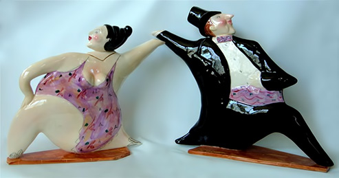 Steven McGovney-IDLE RICHE-Dancer Teapots