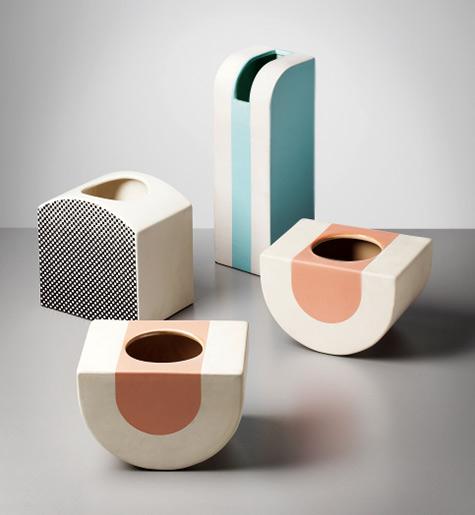 Ettore Sottsass Jr  4 vases