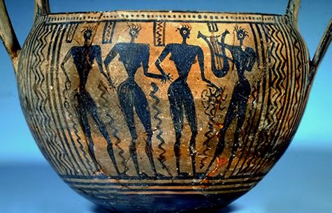 Women dancing on Boiotian pot,-circa-640-BCE