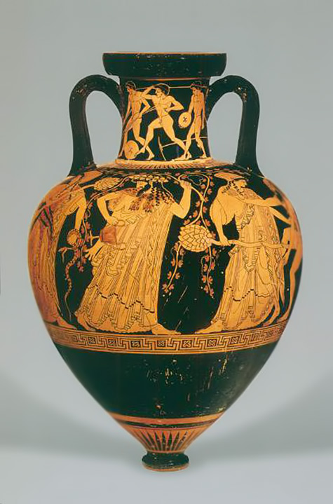 amforeas_arxaia- Pointed Amphora -  500 - 490 BC   by Kleophrades Painter