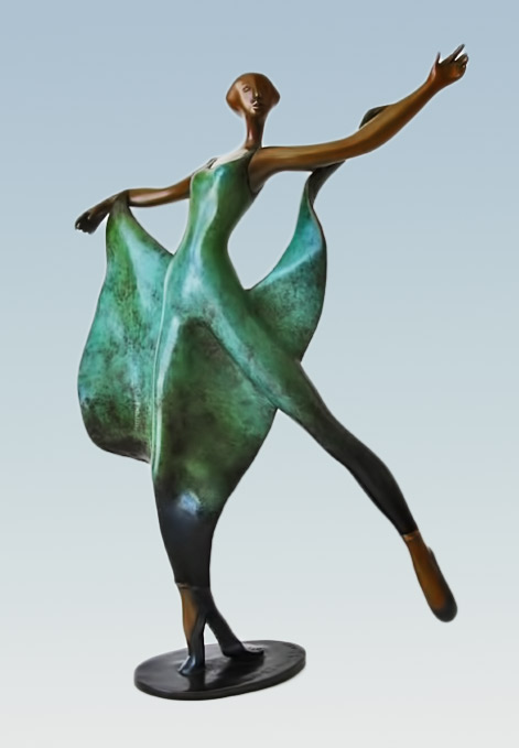 Esther Wertheimer_dance_with_shawl--artparks Dancer sculpture figure