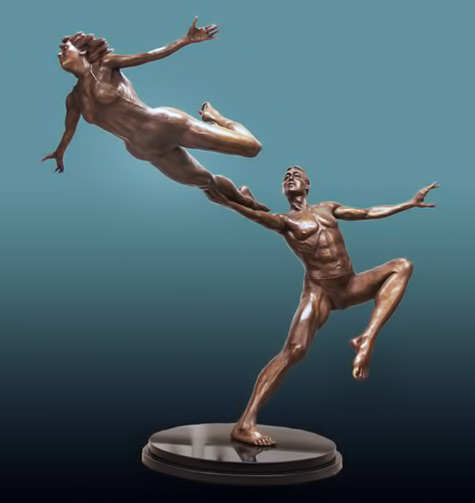 sculpture artwork andrew benyei_perfect_marriage__dancer_sculptures