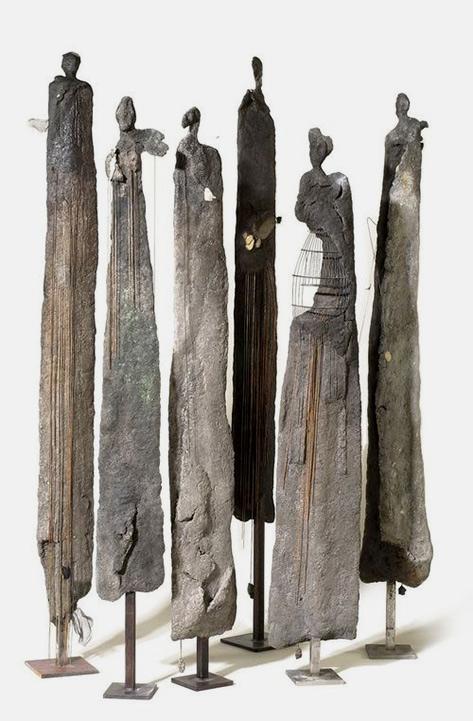 Yolande Biver tall sculpture figures