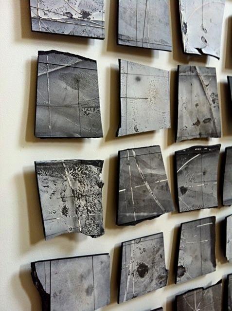 "Margaret Boozer, ""Black Pacific"" art panel"