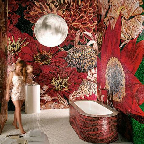 Flower Power Collection by SICIS bathroom mosaics