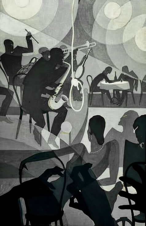 Aaron Douglas Charleston c1928 painting from harlem club