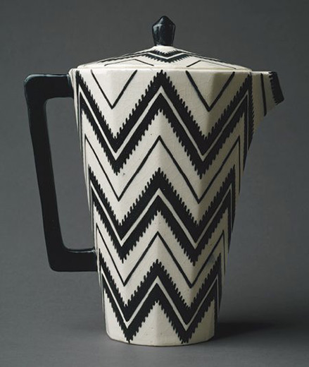 Black and White Art-Deco-Coffee-Pot---Pavel-Janák---1912