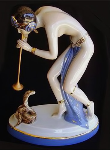 Art-Deco-Female-Snake-Charmer-Royal-Dux