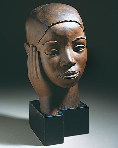 African American bust by Sargent Claude Johnson - Chester