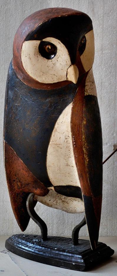 Ceramic sender owl figurine Ivan Angelov Panov