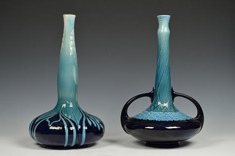 Mettlach, Art Nouveau Vases,-1911