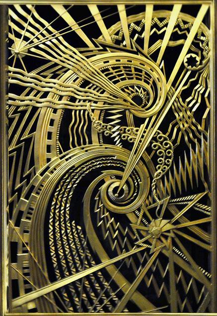 Art-Deco-metalwork,-Chanin-Building,-New-York
