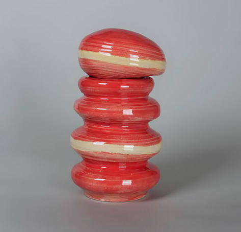 Ceramic-Museum-Beret-Storage-Jar made by Helen Frik